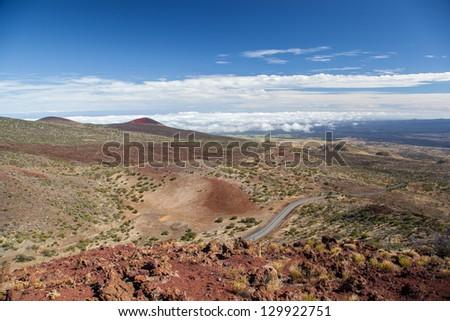 View from Mauna Kea, Big Island, Hawaii - stock photo