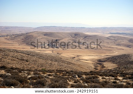 View from mount near Amasa in Israel                                - stock photo