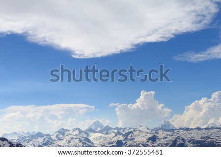 view from Nufenenpass, Alps, Switzerland, Europe