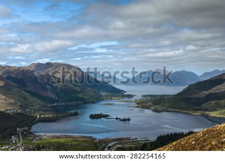 view from Pap of Glen coe