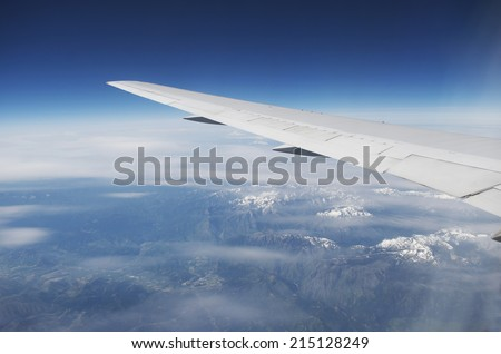 View From Plane - stock photo