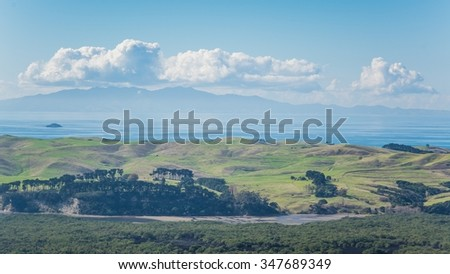 view from Rangitoto Island in New Zealand - stock photo