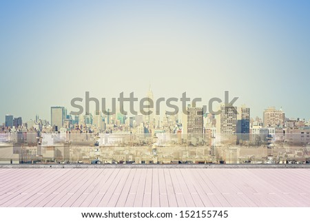 view from roof at New York city