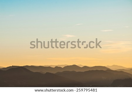 view from Sanctuary of the Madonna di San Luca in Bologna, Italy - stock photo
