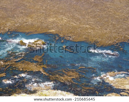 view from satellite... - stock photo
