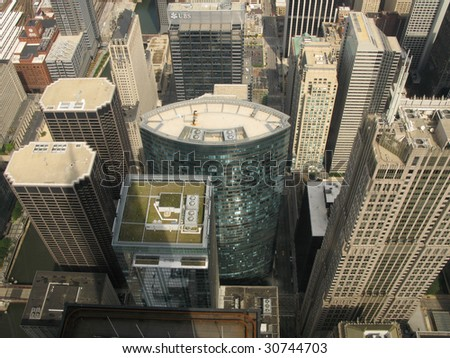 View from Sears Tower, Chicago - stock photo