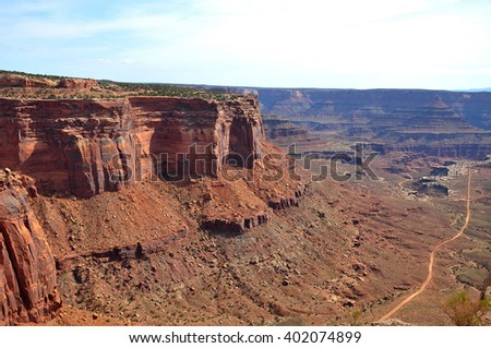 View from Shafer Canyon Viewpoint, Canyonlands National Park, Utah, USA