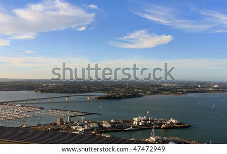 View from skytower , Auckland , New Zealand