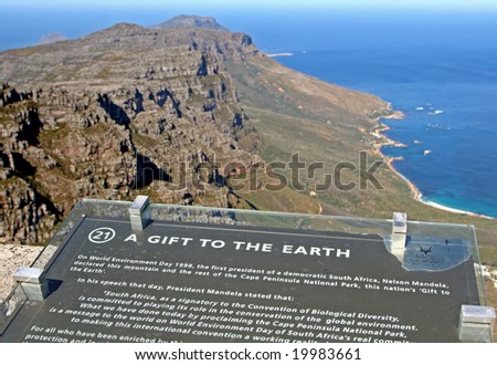 View from Table Mountain, A Gift to the earth, South Africa - stock photo