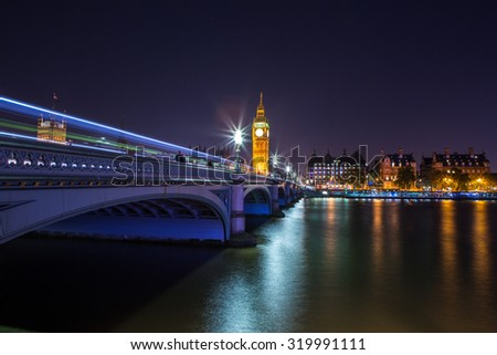 View from Thames - stock photo