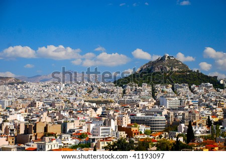 View from the Acropolis - stock photo