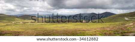 View from the Cairngorms - stock photo