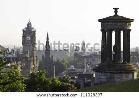 view from the calton hill in edinburgh