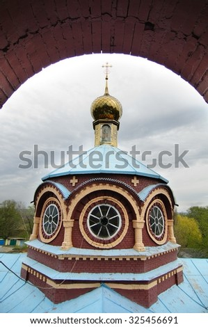 view from the church dome - stock photo