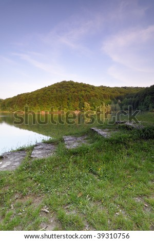 View from the dam - stock photo