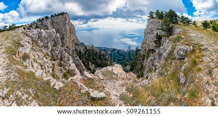 View from the edge of the Ai-Petri plateau, Crimea