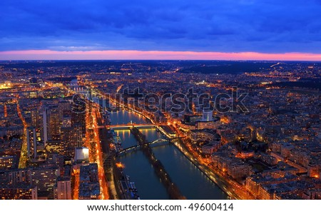 View from the Eiffel tower, Paris - stock photo