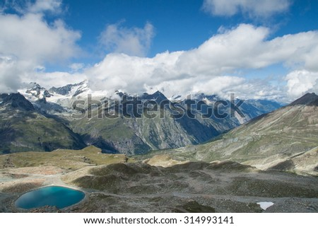 View from the Gornergrat towards the Weisshorn, Switzerland