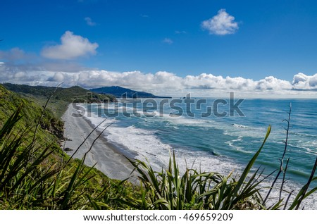 View from the Great Coast Road, New Zealand