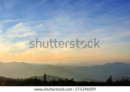 View from the Hohlohturm also imperial Wilhelm's tower, Reichenbach Kaltenbronn, Black Forest, Baden-Wurttemberg, Germany, Europe - stock photo