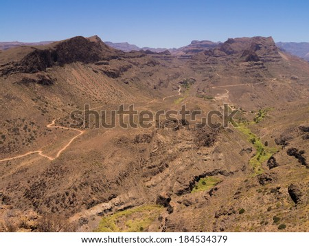 view from the mountains of Gran Canaria