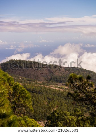 view from the mountains of Tenerife