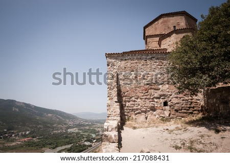 View from the old church on the hill - stock photo