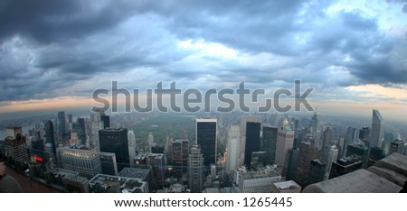 view from the roof of the rockefeller building - 2006