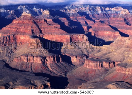 View from the south rim of the Grand Canyon National Park.