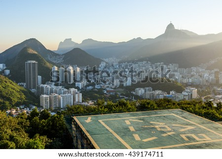 View from the Sugar Loaf Mountain in Rio de Janeiro, Brazil - stock photo