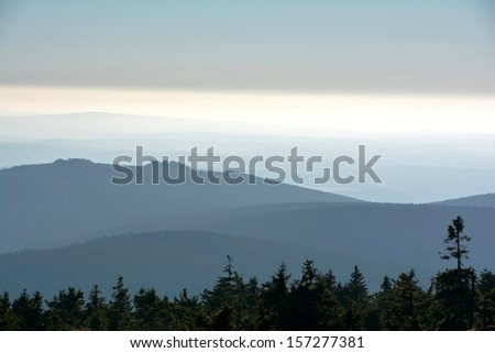 View from the summit of the Brocken