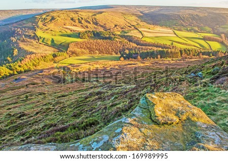 View from the top of Hasty Bank into Bilsdale, North Yorkshire Moors