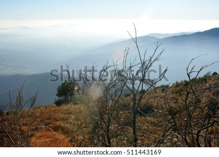 View from the top of Montseny mountain, Catalonia.