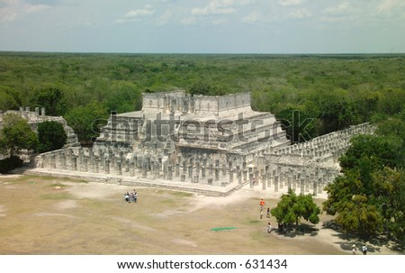 View from the top of the pyramid at Chichen Itza looking over the Yucatan Peninsula