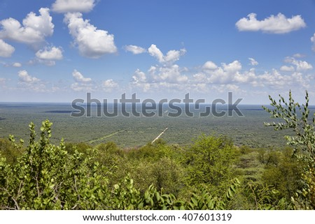 View from the Waterberg Plateau National Park, Kalahari, Otjiwarongo, Namibia, Africa.