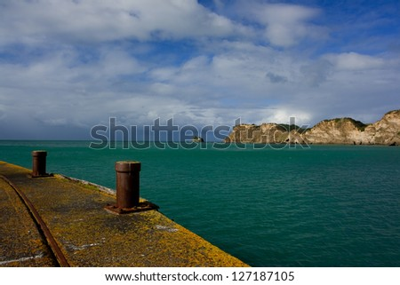 View from Tolaga Wharf on New Zealand's North Island