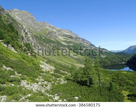 View from Weissee, Hohe tauern, Zell am see, Salzburgland, Austria, Europe