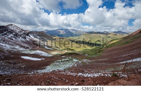 View from West Maroon Pass, Colorado