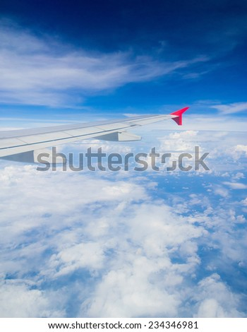 View from Window Cloudscape Around  - stock photo