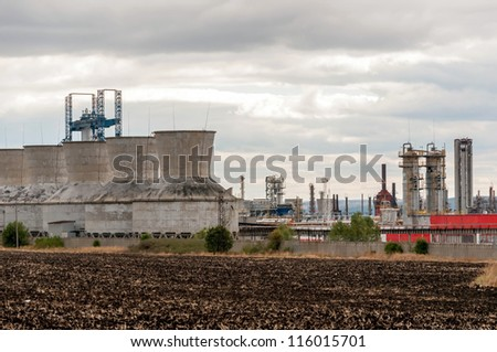 View gas processing factory