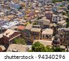 View homes in Corfu, Greece - stock photo