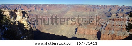 View in Grand Canyon National Park, Arizona - stock photo