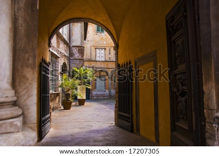 View in Lucca, Italy - stock photo