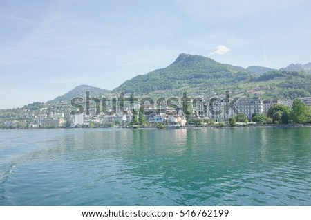 view in Montreux (Switzerland)