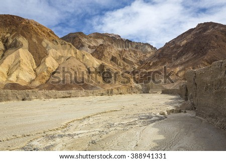 View looking into wash near Golden Canyon in Death Valley National Park
