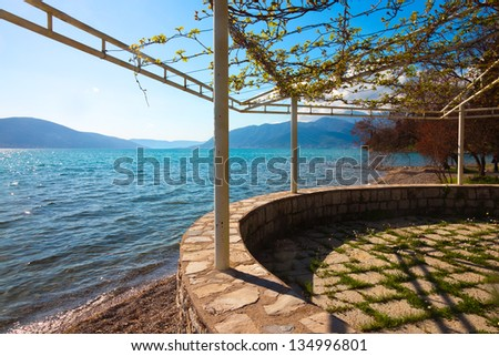 View near Tivat.Montenegro.South Europe.
