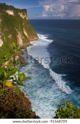 View near Uluwatu Temple in Bali