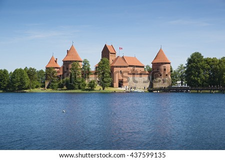 View od Trakai Island Castle, Lithuania