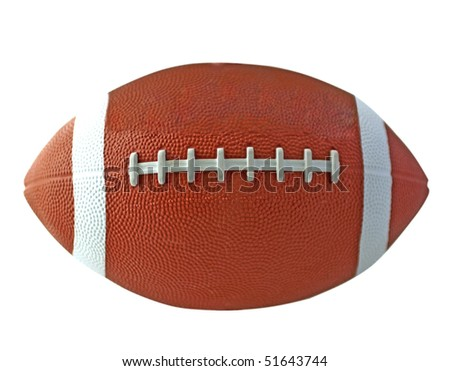 View of a ball for american football - stock photo