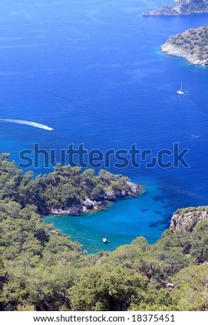 view of a beautiful bay - stock photo